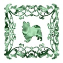 Papillon Green Ornamental Lattice