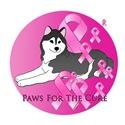 Siberian Husky Pink Ribbon