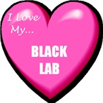 Black Lab T-Shirt - Love