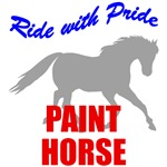 Ride With Pride Paint Horse T-Shirts