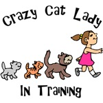 Crazy Cat Lady In Training T-Shirts