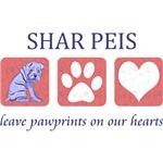 Shar-Pei Paw Prints T-Shirt