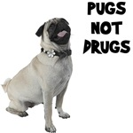 Pugs Not Drugs T-Shirts