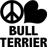 Peace Love Bull Terrier T-Shirt