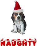 Naughty Beagle Christmas T-Shirts