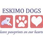Eskimo Dog Pawprints