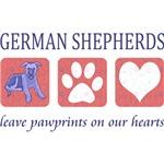 German Shepherd Pawprints T-Shirts