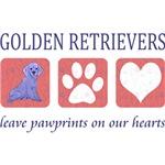 Golden Retriever Pawprints