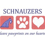 Schnauzer Pawprints T-Shirts