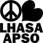 Lhasa Apso T-Shirt - Peace Love