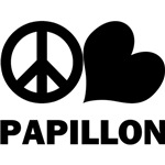Peace Love Papillon