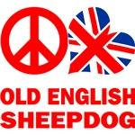 Peace Love Old English Sheepdog