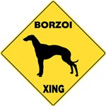 Borzoi Crossing Sign