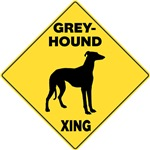 Greyhound Crossing Sign