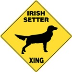Irish Setter Crossing Sign