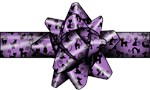 Purple Cat  Bow
