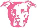 Pittie in Pink Pit Bull Head