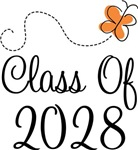 Class of 2028 Butterfly Graduate Gifts & Tees