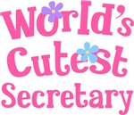 Worlds Cutest Secretary Gifts and T-shirts