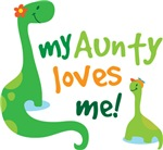 My Aunty Loves Me Dino T Shirts for Kids