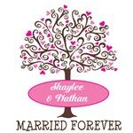 Personalized Wedding Anniversary Tree