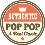 Authentic Pop Pop Vintage Gifts and T-Shirts