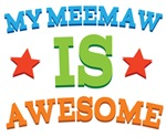 My Meemaw Is Awesome Kids Tshirts