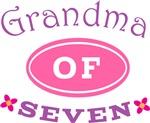 Grandma Of Seven Cute T-shirts