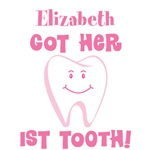 Personalized 1st Tooth T-shirts