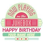 Personalized Happy Birthday Jukebox T-shirts