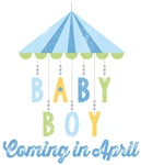 Baby Boy Coming in April Due Date Maternity