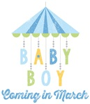 Baby Boy Coming in March Due Date Maternity