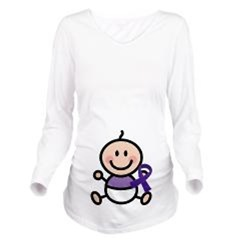 Purple Awareness Ribbon Maternity T-shirts