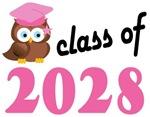 Class of 2028 Graduation Tee Shirts (owl)