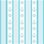 Anchor Nautical Wheel Turquoise