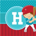 Personalized Kids Baseball Monogram