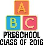 2016 Preschool Class alphabet tees