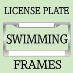 Diving / Swimming License Plate Frames