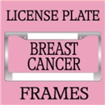 BREAST CANCER LICENSE PLATE FRAMES