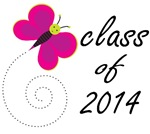 Cute CLASS OF 2014 T SHIRTS with butterfly