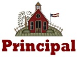 Cute School House Principal Tshirts