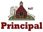 Cute School House Principal Tshirts