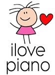 I Love Heart Piano T-Shirts