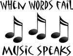 Music Speaks Gift T-shirts