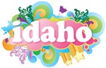 Retro Burst Idaho T-shirts and Gifts