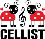 Ladybug Cellist T-shirts