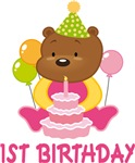 Sweet Bear 1st Birthday T-shirts And Gifts