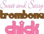 Sweet Sassy Trombone Chick Music T-shirts