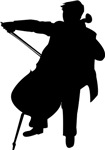 Cellist Silhouette Music Gifts and T-shirts