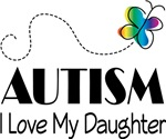 Autism  I Love My Daughter Butterfly T-shirt